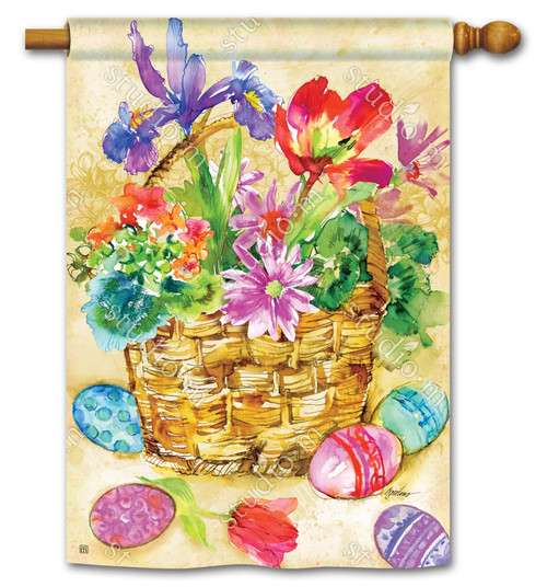 "Easter Beauty Easter House Flag - 28"" x 40"" - BreezeArt"