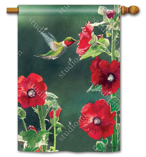 "Hummingbird Delight Summer House Flag - 28"" x 40"" - BreezeArt"
