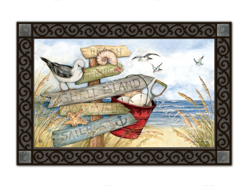"To the Beach MatMates Doormat - 18"" x 30"""