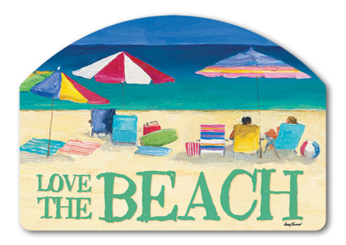 "Love the Beach Yard DeSign Yard Sign - 14"" x 10"""
