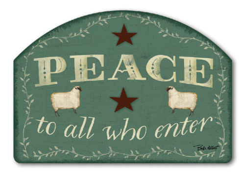 "Peace to All Yard DeSign Yard Sign - 14"" x 10"""