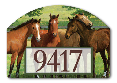 "Grazing Time Yard DeSign Address Sign - 14"" x 10"""
