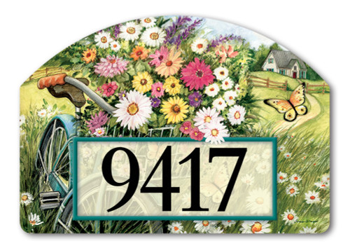 "Morning Ride Yard DeSign Address Sign - 14"" x 10"""
