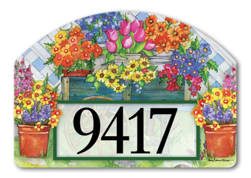 "Fresh Picked Yard DeSign Address Sign - 14"" x 10"""