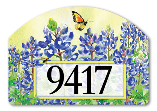 "Bluebonnet Dream Yard DeSign Address Sign - 14"" x 10"""