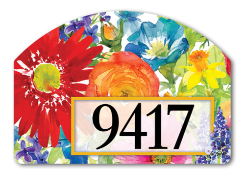 "Splash of Color Yard DeSign Address Sign - 14"" x 10"""