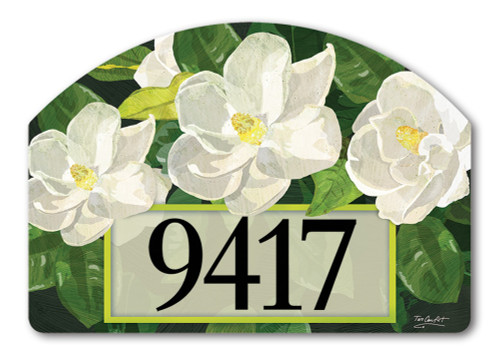 "Sweet Magnolias Yard DeSign Address Sign - 14"" x 10"""
