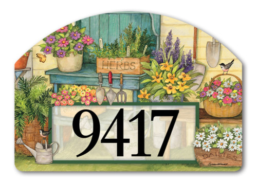 "Planting Time Yard DeSign Address Sign - 14"" x 10"""