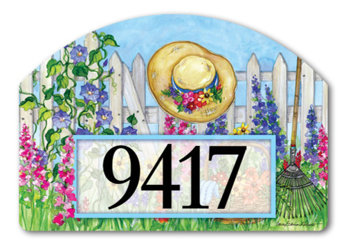 "Springtime Beauty Yard DeSign Address Sign - 14"" x 10"""