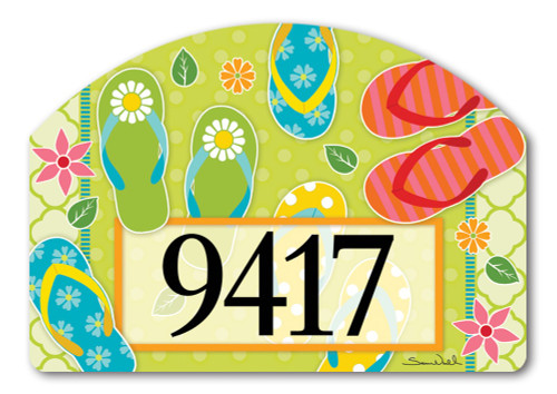 "Hello Summer Yard DeSign Address Sign - 14"" x 10"""