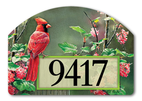 "Cardinal Beauty Yard DeSign Address Sign - 14"" x 10"""