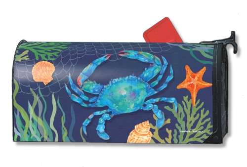 Blue Crab Magnetic Mailbox Cover