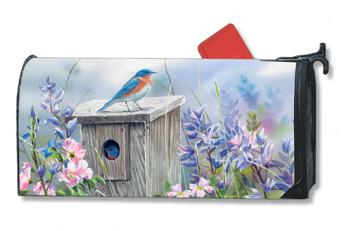 Bluebird Lookout Magnetic Mailbox Cover