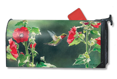 Hummingbird Delight Magnetic Mailbox Cover
