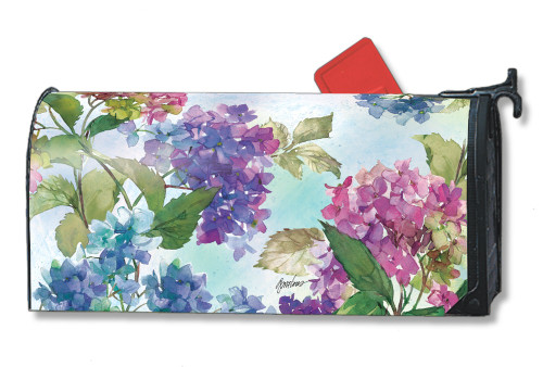 Hydrangeas Magnetic Mailbox Cover