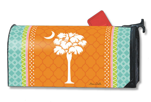 Preppy Palmetto Magnetic Mailbox Cover
