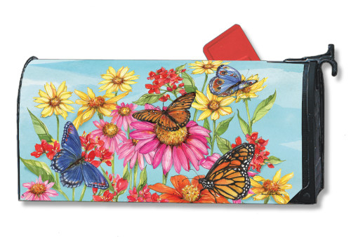 Field of Butterflies Magnetic Mailbox Cover