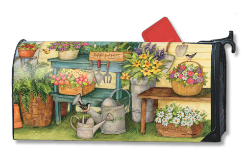 Planting Time Magnetic Mailbox Cover