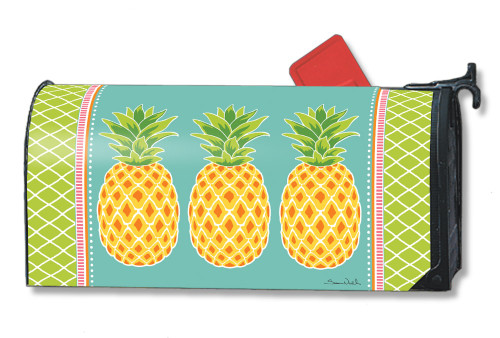 Preppy Pineapple Magnetic Mailbox Cover
