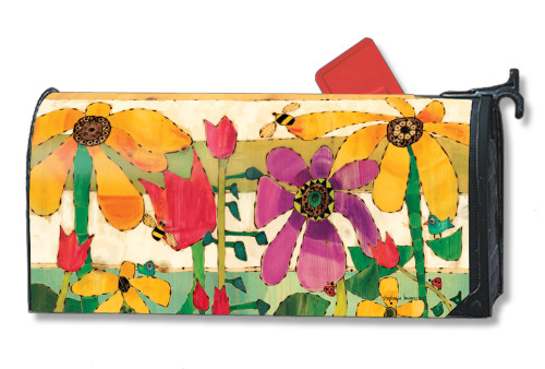 Flower Garden Magnetic Mailbox Cover