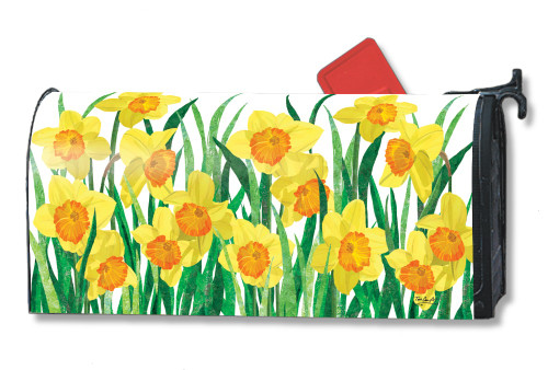 Daffodils in Bloom Magnetic Mailbox Cover