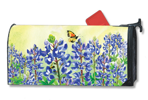 Bluebonnet Dream Magnetic Mailbox Cover