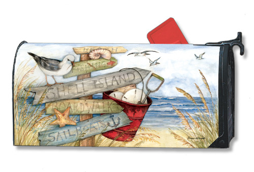 To the Beach Magnetic Mailbox Cover