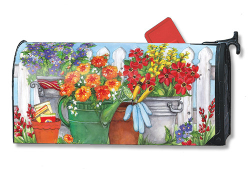 Vintage Watering Can Magnetic Mailbox Cover