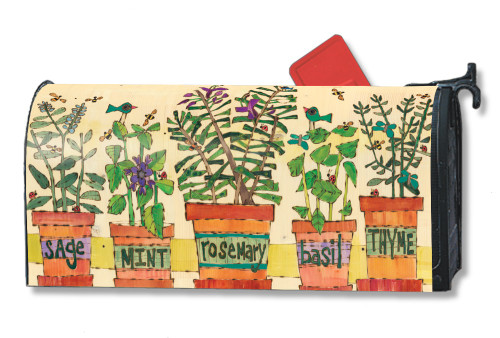 Herb Garden Magnetic Mailbox Cover