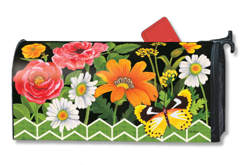 Fancy Floral Magnetic Mailbox Cover