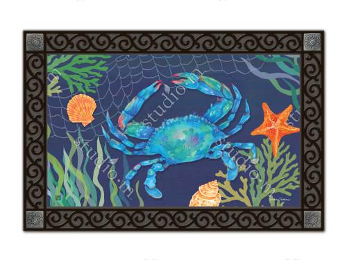 """Blue Crab MatMates Doormat - 18"""" x 30"""""""