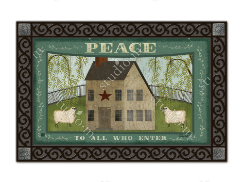"Peace to All MatMates Doormat - 18"" x 30"""