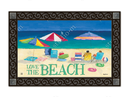 "Love the Beach MatMates Doormat - 18"" x 30"""