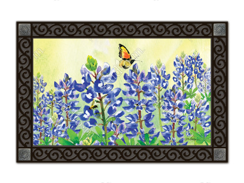 "Bluebonnet Dream MatMates Doormat - 18"" x 30"""
