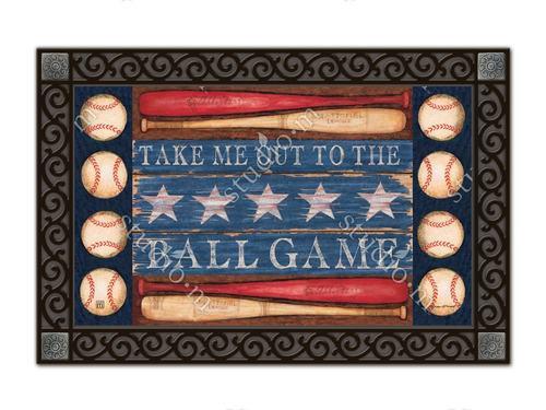 """Baseball Season MatMates Doormat - 18"""" x 30"""""""