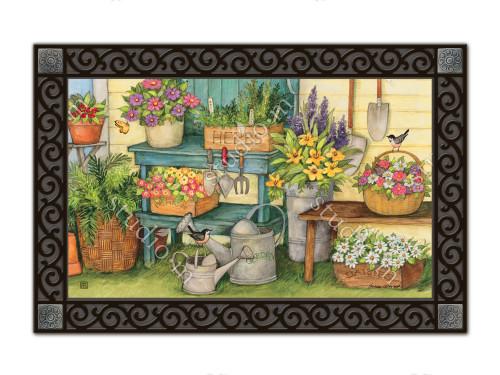 "Planting Time MatMates Doormat - 18"" x 30"""