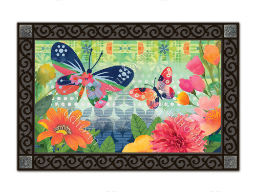 "Butterflies in Flight MatMates Doormat - 18"" x 30"""
