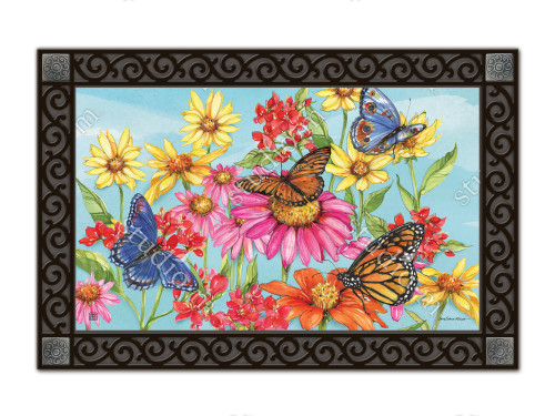 "Field of Butterflies MatMates Doormat - 18"" x 30"""