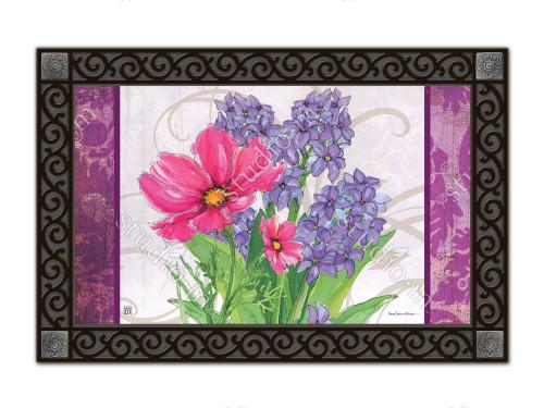 """Garden Bouquet MatMates Doormat - 18"""" x 30"""""""