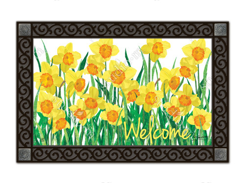 "Daffodils in Bloom MatMates Doormat - 18"" x 30"""