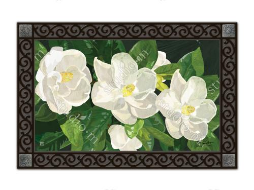 "Sweet Magnolias MatMates Doormat - 18"" x 30"""