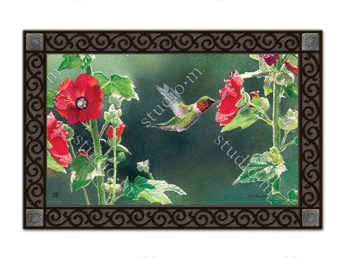 "Hummingbird Delight MatMates Doormat - 18"" x 30"""