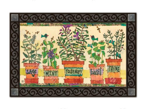 """Herb Garden MatMates Doormat - 18"""" x 30"""""""