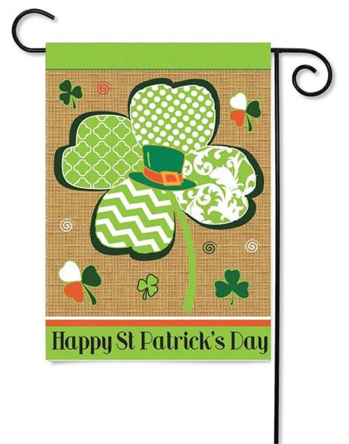St. Patrick's Day Burlap Garden Flag by Magnolia Gardens