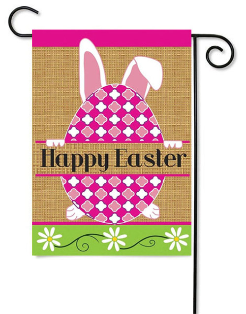 Happy Easter Burlap Garden Flag by Magnolia Gardens