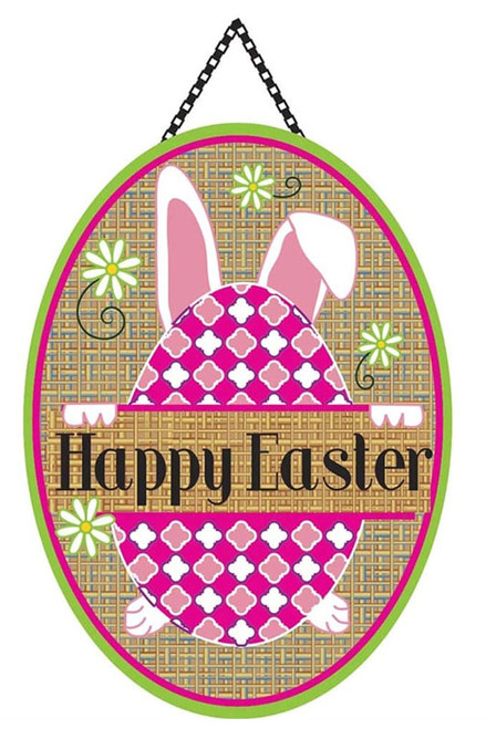 Happy Easter Burlap Door Decor by Magnolia Gardens