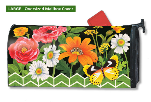 Fancy Floral LARGE Magnetic Mailbox Cover