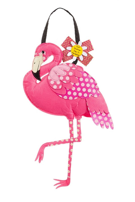 Pink Flamingo Felt Door Decor