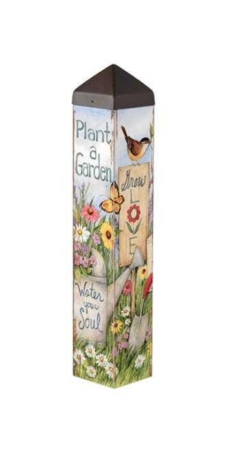 """Plant A Garden Art Pole - 20"""""""