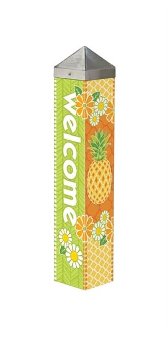 "Pineapple Welcome Art Pole - 20"""